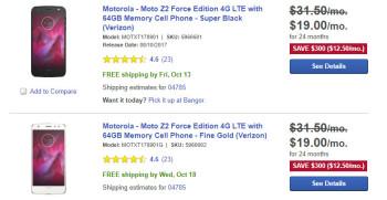 Deal: Verizon Motorola Moto Z2 Force on sale for just $450 at Best Buy