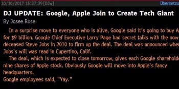 Fake news: No, Google did not buy Apple for $9 billion