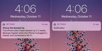 iOS 11 can now finally be discreet with lockscreen notifications (before - left, after - right)