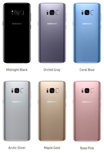 The remarkable range of color options for the Galaxy S8