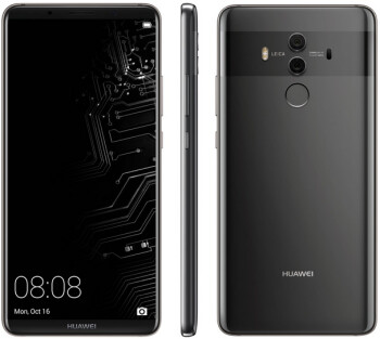 The latest Huawei Mate 10 Pro render includes a look at the lock screen