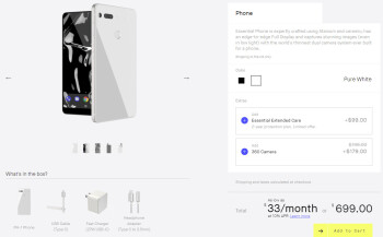 Essential Phone in white now available for purchase in the U.S.