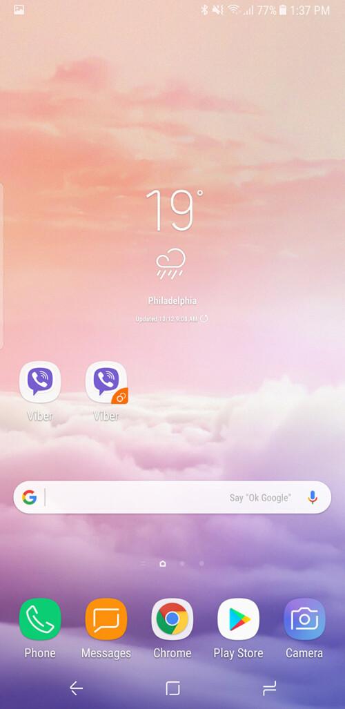 Sie können sich mit zwei Facebook-, WhatsApp- und Viber-Konten auf dem Galaxy Note 8 anmelden. Hier sehen Sie, wie