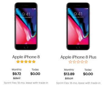 Save $350 leasing the Apple iPhone 8 or Apple iPhone 8 Plus