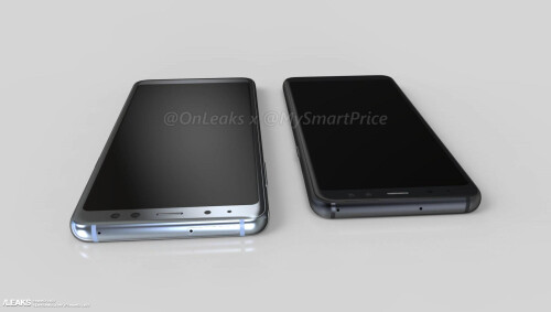 Samsung Galaxy A5 (2018) and A7 (2018) renders by @onleaks