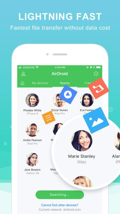 AirDroid kommt zu iOS, ermöglicht einfache drahtlose Dateiübertragungen (über Bluetooth auch!)