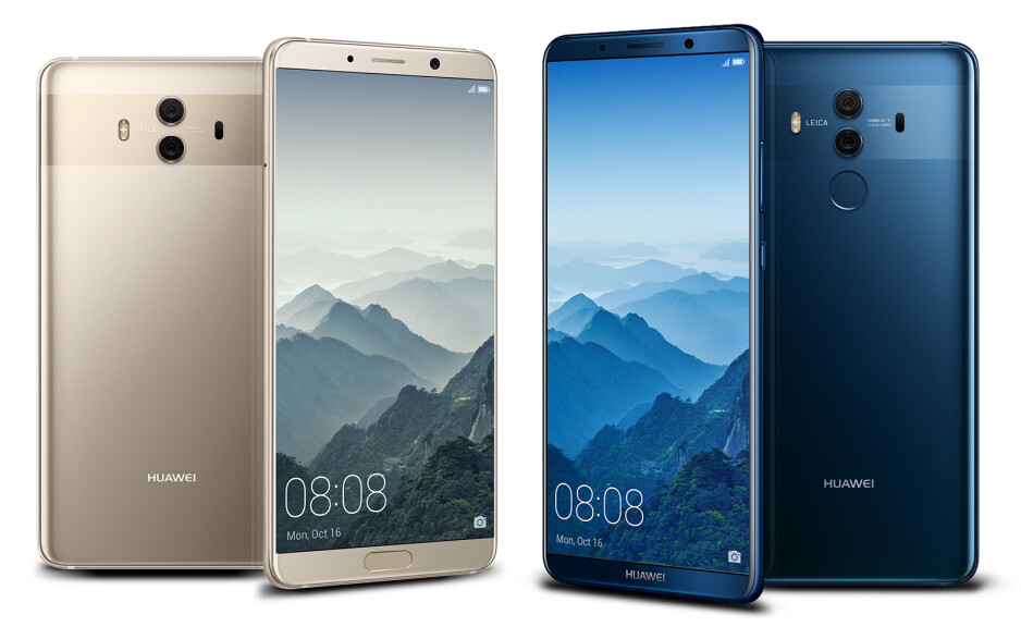 """The Mate 10 (left) and Mate 10 Pro (right) - Huawei unveils the Mate 10 and Mate 10 Pro: putting the """"smart"""" back in """"smartphone"""""""
