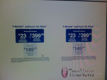 T-Mobile myTouch 3G Slide coming out on June 16 for $149.99?