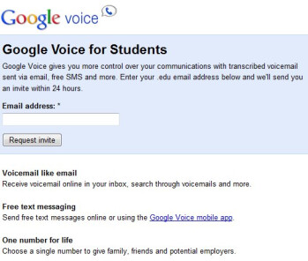 Google Voice is now available to all students