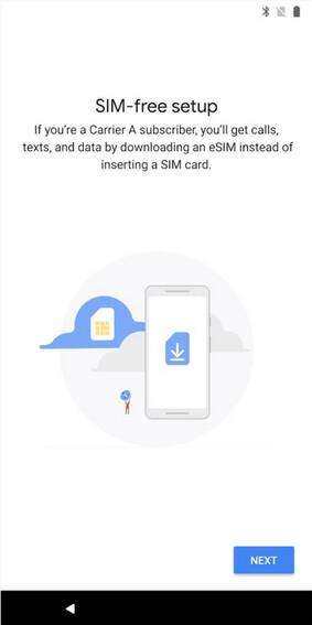 Die eSIM Manager App von Pixel 2 wurde jetzt im Google Play Store gefunden.
