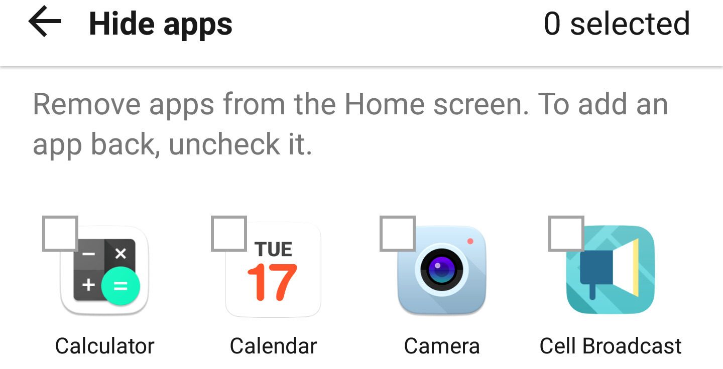 Hide apps icons from the home screen or drawer on your Samsung, LG