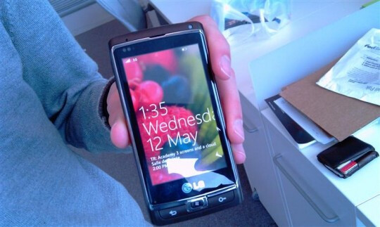 Windows Phone 7 handset made by LG gets snapped