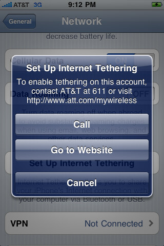 Tethering an option on just released iPhone OS 4.0 beta 4