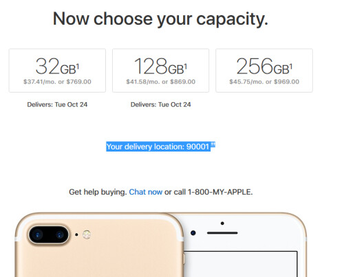 Earlier this year the iPhone 7 was offered with 256GB of storage...