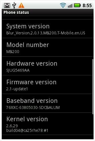 Motorola CLIQ already seen running Android 2.1?