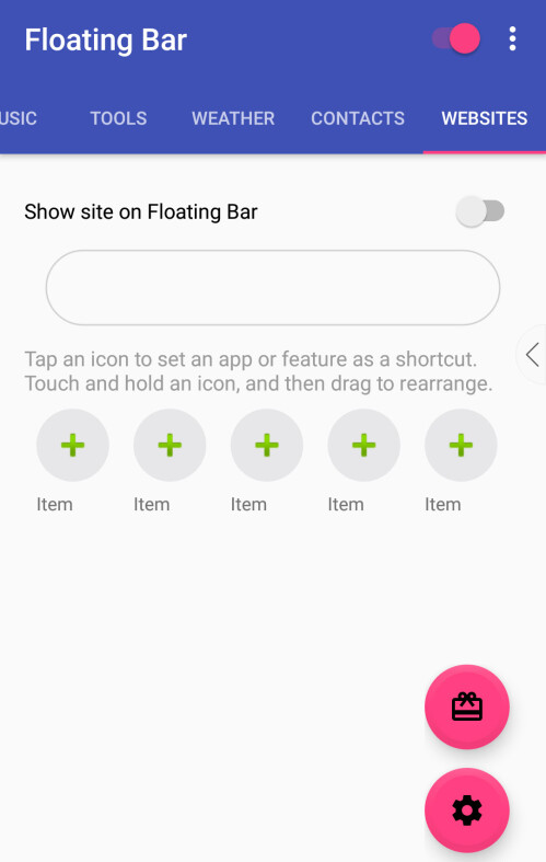 Floating Bar for Android