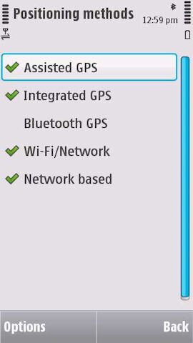 Support for Qype and Wi-Fi positioning found on the latest version of Ovi Maps