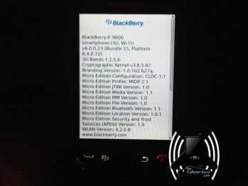 Leaked images of the BlackBerry Bold 9800 Slider shows off its WebKit-based browser