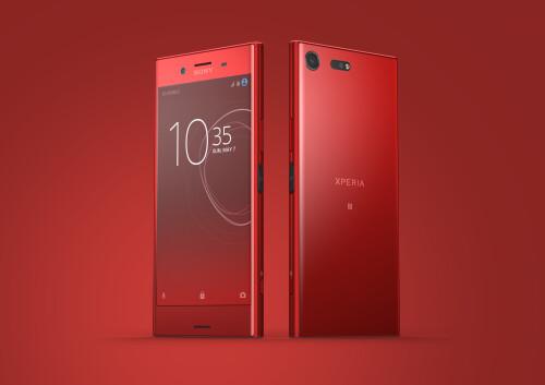 Sony Xperia XZ Premium in red