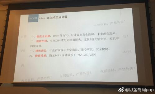 Vivo Xplay7 leaked slides