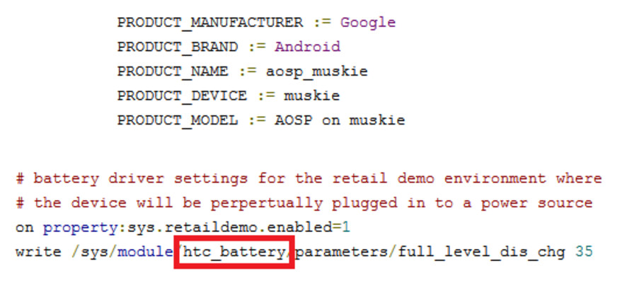 The AOSP reveals the Muskie was made by HTC...