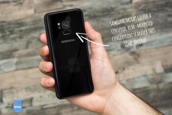 The upcoming Samsung Galaxy A5 (2018) and A7 (2018) are heavily tipped to feature centered, rear-mounted fingerprint scanners. Samsung might do the same for the Galaxy S9 and S9+