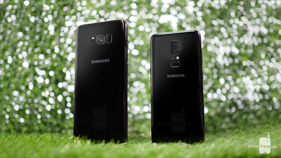 Galaxy S8+ (left) next to a Galaxy S9 mockup - Awesome Galaxy S9 renders offer an early glimpse at what Samsung's next flagships might look like