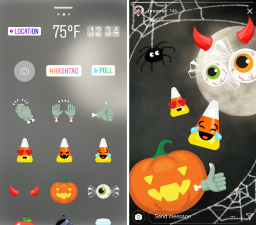 Halloween stickers are offered through November 1st