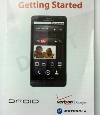 Shot of a set-up guide leaks the Motorola Droid Shadow?