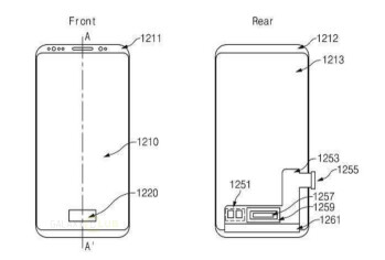 Samsung patents in-display finger scanner with pressure sensor on an Infinity Display device design