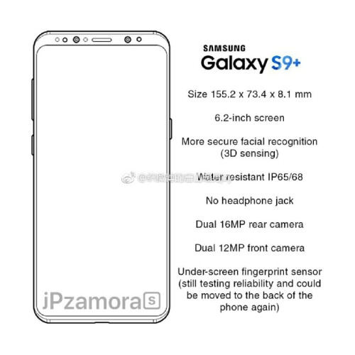 Galaxy S9 and S9+ spec leaks