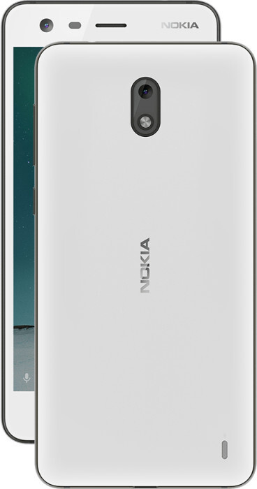 Nokia 2 in Pewter White - Nokia 2 announced: Stock Android, solid 2-day battery life, ultra-affordable price tag