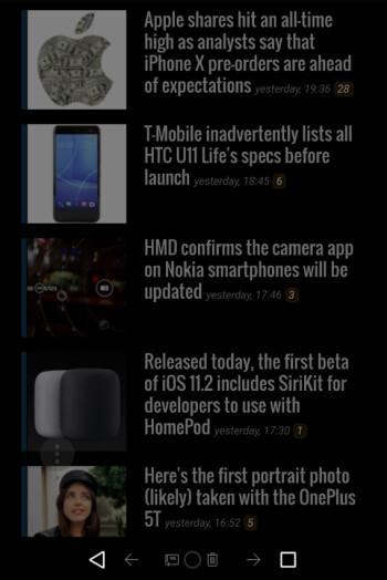 Dark Mode on the Samsung Internet Browser app