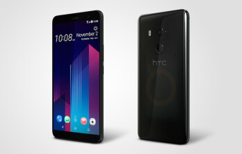The HTC U11+ in Translucent Black