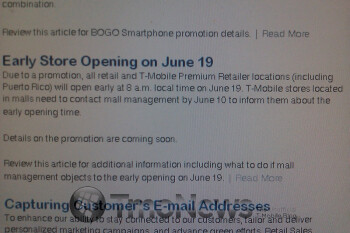 T-Mobile stores across the country opening early on June 19 for a special promotion?