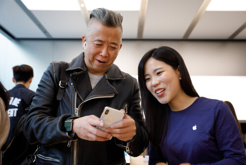 Apple iPhone X launch day photos