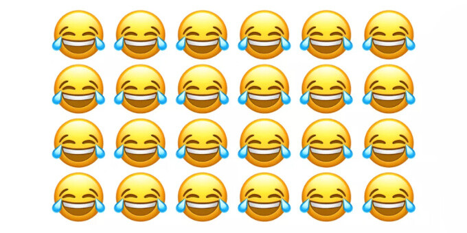 Face with tears of joy, the most popular emoji - This is the most popular emoji