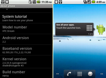 Hackers working diligently on brining Android 2.2 to the HTC Magic & Dream