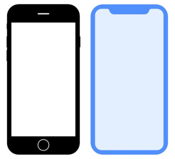 Old vs new – Apple wants to make the iPhone X silhouette as iconic as the classic one