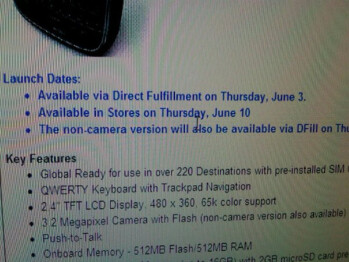 Verizon to offer BlackBerry Bold 9650 by direct fulfillment; order June 3rd, in stores June 10th