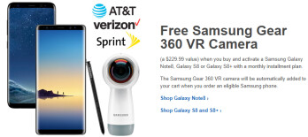 Samsung Galaxy Note 8 and S8 now come with a free Gear 360 Camera (on Verizon, AT&T, Sprint)