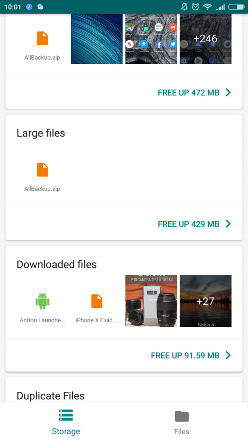 Files Go screenshots