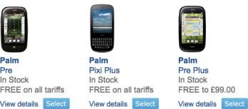 Palm Pre Plus & Pixi Plus touches down onto O2 UK's lineup
