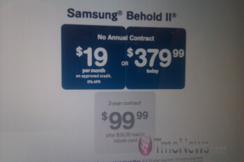 T-Mobile slashes prices on the Samsung Behold II & T-Mobile myTouch 3G