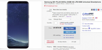 Deal: Unlocked Samsung Galaxy S8+ on sale for just $575 on eBay
