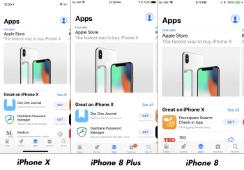 iPhone X vs iPhone 8 Plus/iPhone 8 interface comparison: Does it really fit more content?