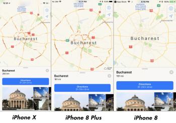 Apple Maps comparison