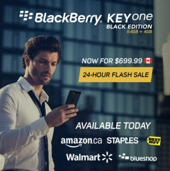 For the rest of today, Canadians can take $100 off the BlackBerry KEYone Black Edition