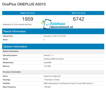 Alleged OnePlus 5T benchmark nets one of the highest Snapdragon 835 scores