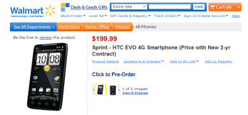 Calling Mr. Rollback: Walmart joins the EVO 4G party; $199 with no rebate